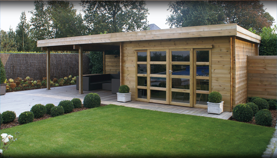 comment construire un studio de jardin. Black Bedroom Furniture Sets. Home Design Ideas